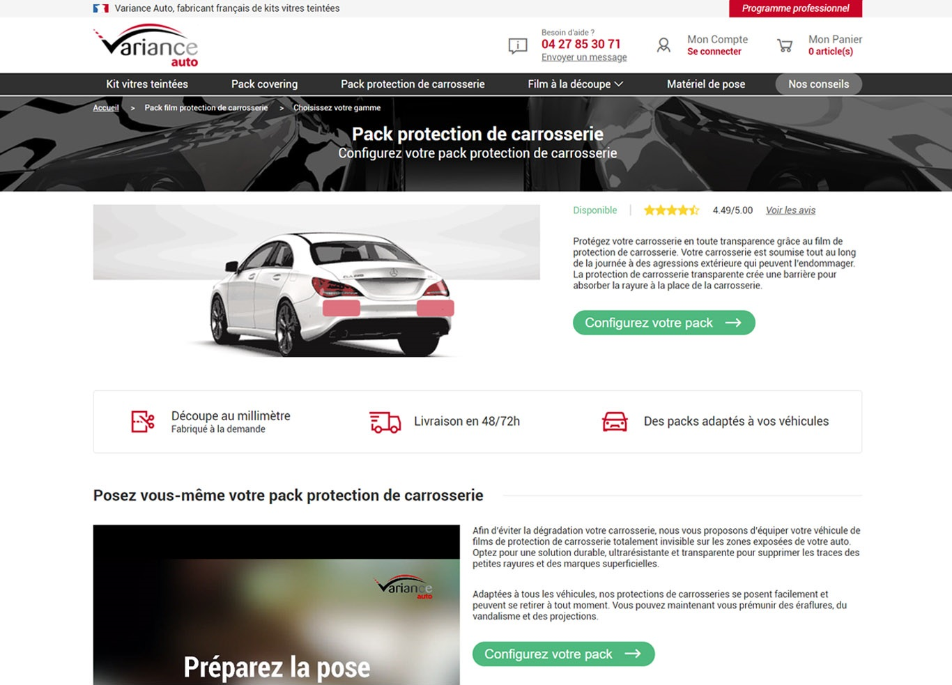Pack protection de carrosserie