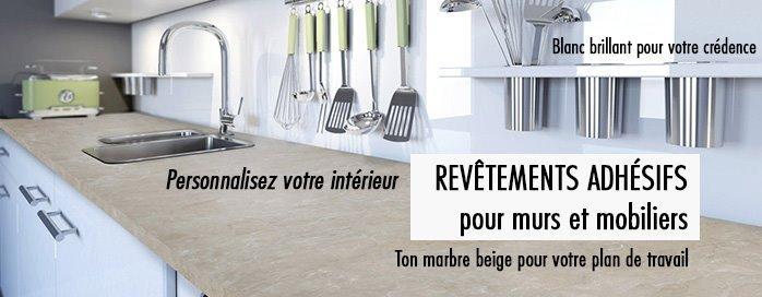 autocollant meuble cuisine cheap kinlo mm papier peint. Black Bedroom Furniture Sets. Home Design Ideas