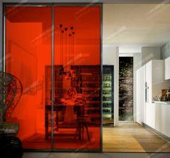 Film décoratif de couleur rouge vermillon  60193. Luminis-Films