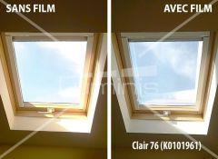 Film repositionnable solaire argent  STAT 201ix. Luminis-Films