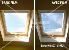 Film repositionnable solaire argent foncé  STAT 200ix. Luminis-Films