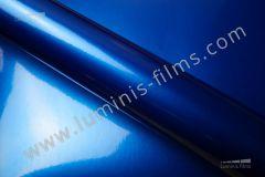 Revêtement décoratif bleu métallisé 3D  METAL 4605a. Luminis-Films