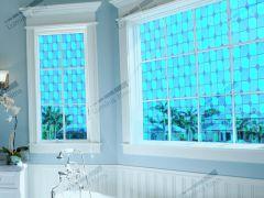 Film vitrail bleu  VTB 420 . Luminis-Films