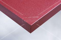 Adhésif glossy rouge à fines paillettes argentées  SHINE1 2504. Luminis-Films