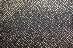 Revêtement décoratif effet cuir noir et or  CUIR 3236. Luminis-Films