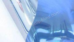 Film solaire repositionnable bleu  STAT 206ix. Luminis-Films
