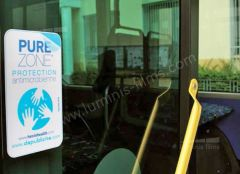 Protection anti micorbienne toute surface PUREZONE  PROTEC 6100. Luminis-Films