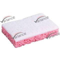 Eponge grattoir rose pour un bon nettoyage des surfaces vitrées
