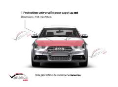 1 protection de carrosserie transparente pour capot