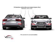4 protections de carrosserie pour angles de pare-chocs