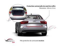1 protection de carrosserie incolore pour seuil de coffre