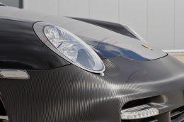 Film covering carbone noir 3D. Variance-auto