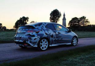 Honda Civic : réalisation d'un covering partiel . Variance Auto