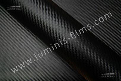 Revêtement décoratif carbone noir 3D. Luminis-Films