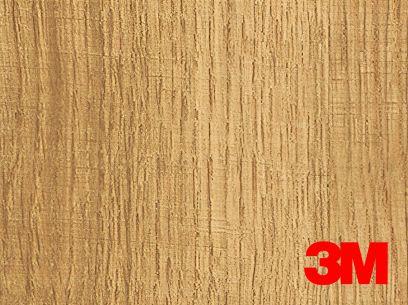 Revêtement décoratif DI-NOC 3M effet bois clair à nervures marrons. Luminis-Films