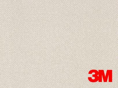 Revêtement décoratif DI-NOC 3M effet tissage blanc/beige. Luminis-Films