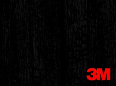 Revêtement décoratif DI-NOC 3M effet bois noir brillant. Luminis-Films