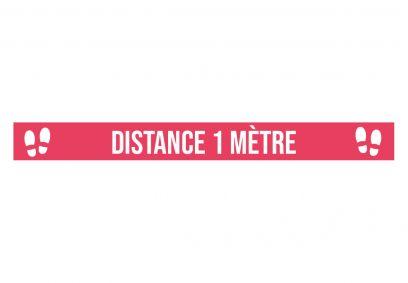 Marquage au sol Distance 1 mètre rouge. Luminis-Films