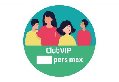 Autocollant signalétique décalé Club VIP. Luminis-Films