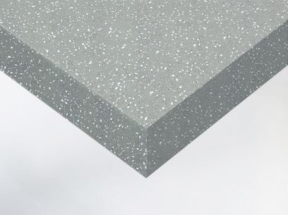 Adhésif décoratif imitation terrazzo gris béton. Luminis-Films