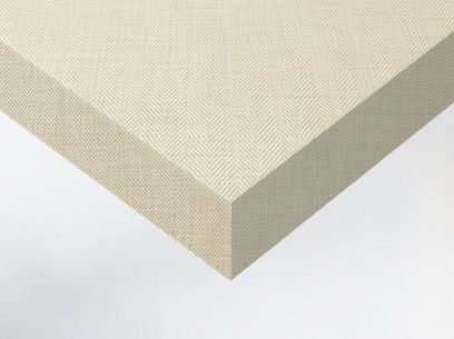 Adhésif décoratif imitation tissu chevron beige. Luminis-Films