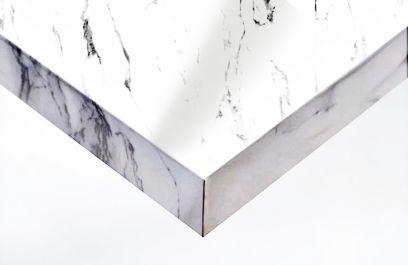 Adhésif décoratif marbre blanc brillant. Luminis-Films