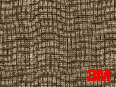 Revêtement décoratif DI-NOC 3M effet tissu marron. Luminis-Films