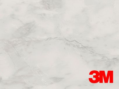 Revêtement décoratif DI-NOC 3M effet marbre blanc. Luminis-Films