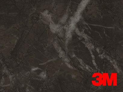 Revêtement décoratif DI-NOC 3M effet marbre noir. Luminis-Films