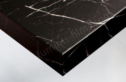 Revêtement adhésif marbre noir mat. Luminis-Films