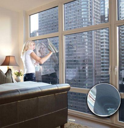 Film électrostatique miroir sans tain gris foncé