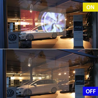 Film de rétroprojection transparent. Luminis-Films
