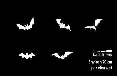 Stickers chauve-souris halloween pour vitre. Luminis-Films