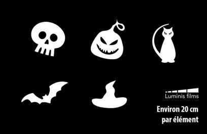 Stickers halloween pour vitrage. Luminis-Films