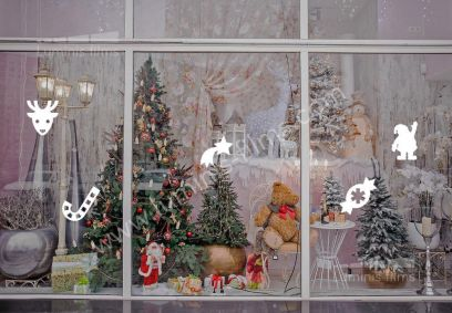 Décoration Noël pour fenêtre. Luminis-Films