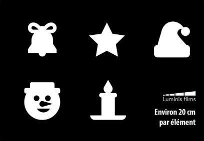 Stickers Hiver pour vitre. Luminis-Films