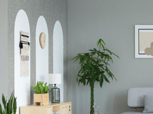 Adhésif décoratif imitation terrazzo gris béton