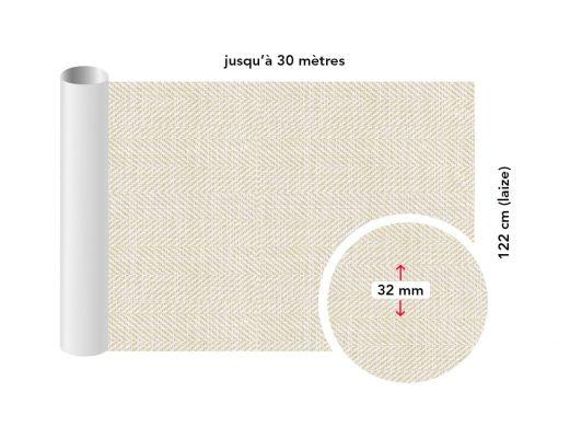 Adhésif décoratif imitation tissu chevron beige