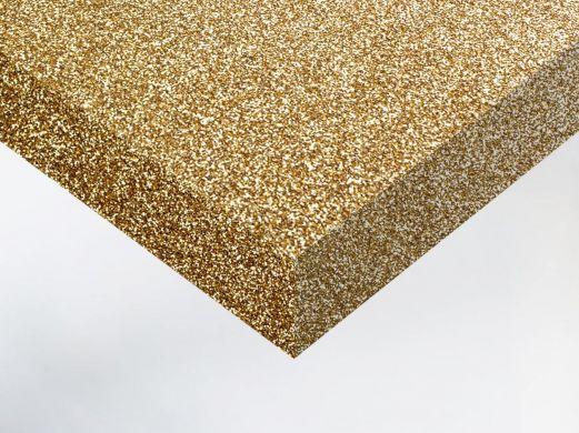 Adhésif décoratif pailleté doré