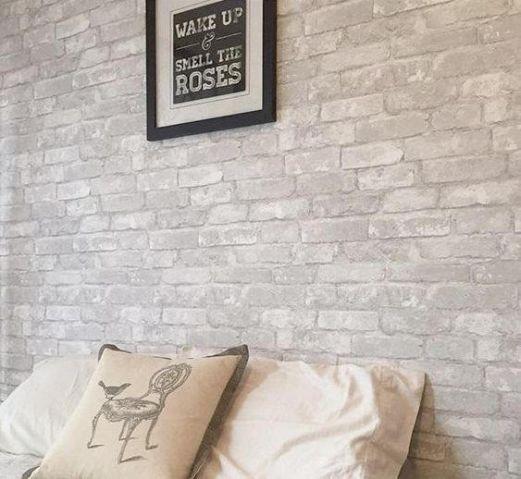 Revêtement adhésif briques grises