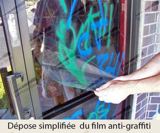 Film anti-graffitis incolore