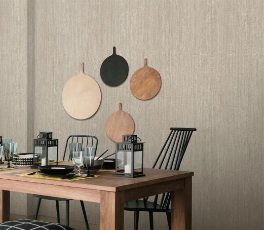 Revêtement décoratif imitation tissu beige