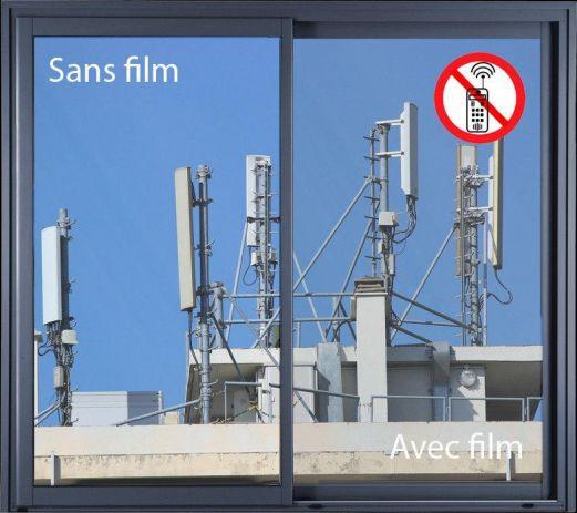 Film anti-ondes ultra clair pour vitre