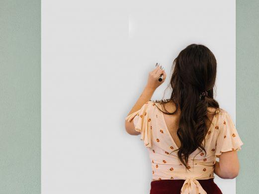 Film tableau blanc velleda mat réceptif aux aimants