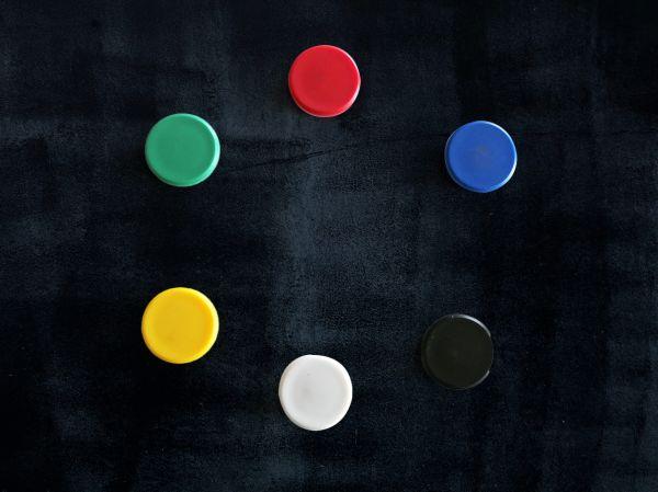 Lot 6 aimants couleurs. Luminis Films
