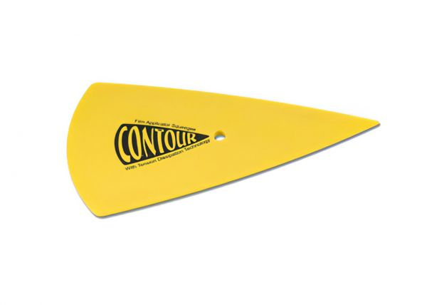 Raclette à joints souple : Yellow Contour pour passer derrière les joints. Variance Auto