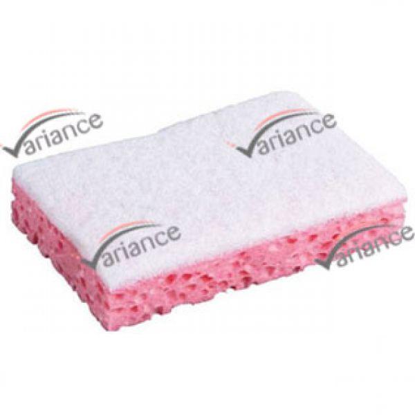 Eponge grattoir rose pour un bon nettoyage des surfaces vitrées. Variance-Auto