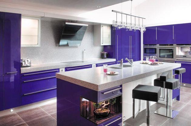 Revêtement décoratif violet brillant 2D. Luminis Films