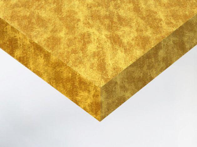 Revêtement décoratif effet tissu doré vieilli . Luminis Films