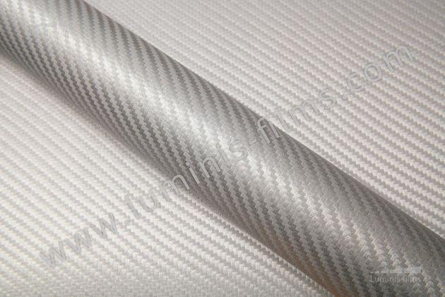 Revêtement décoratif carbone argent 3D. Luminis Films